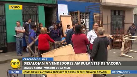 Desalojan otra vez a los comerciantes informales de Tacora