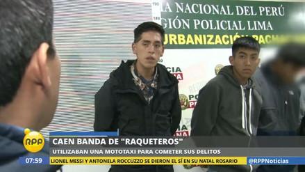 La Policía arrestó a cinco raqueteros en Villa El Salvador
