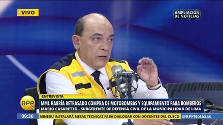 "Casaretto sobre compra de equipos a bomberos: ""Defensa Civil no ejecuta el proceso"""