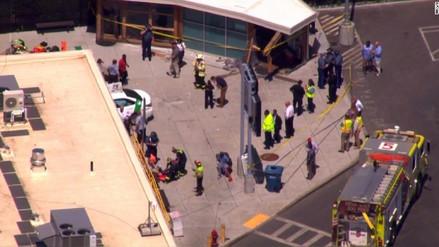 Varios heridos luego de la embestida de un taxi en Boston