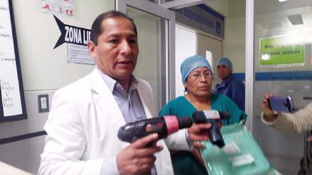 Huancayo: médicos denuncian que tienen que operar con taladros de ferretería