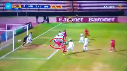 Jersson Vásquez anotó de cabeza tras un tiro de esquina de Alexi Gómez