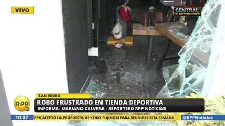 Asaltaron a combazos una tienda deportiva en San Isidro