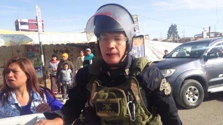 Huancayo: transportistas agreden a policía durante paro de 24 horas