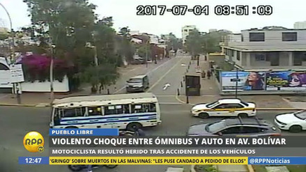 Una cúster protagonizó un violento accidente en Pueblo Libre