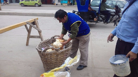 Decomisan queso adulterado en mercado de Moshoqueque