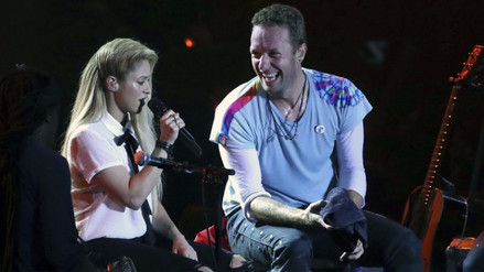 Video | Chris Martin cantó 'Chantaje' junto a Shakira