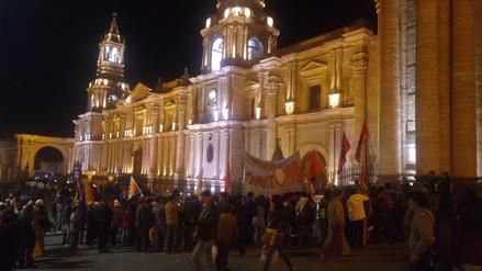 Arequipeños marcharon contra posible indulto de Alberto Fujimori