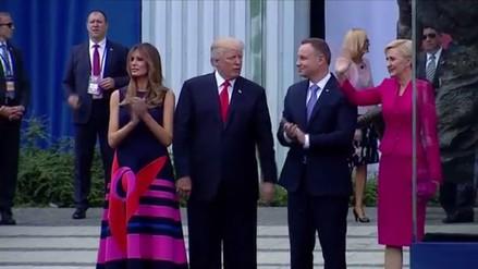 Donald Trump fue desairado por la primera dama de Polonia