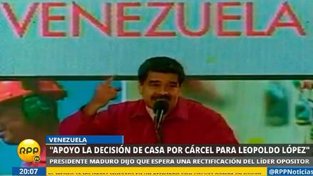 Maduro reclama a Leopoldo López