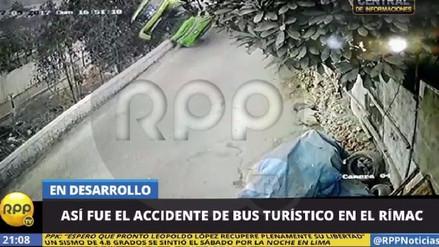 Así fue el momento del despiste del bus en el Cerro San Cristóbal