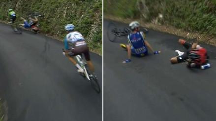 La terrible caída que ocurrió en el Tour de Francia