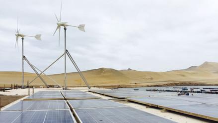 Solo 3% de la energía en Perú viene del aire o del sol