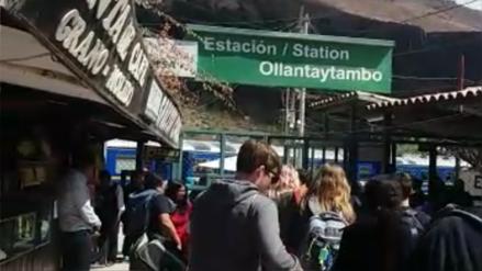 Servicio de trenes a Machu Picchu fue suspendido por huelga de docentes