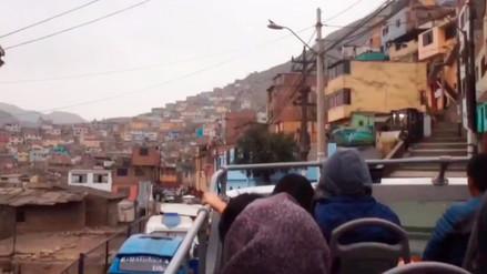 Así era la ruta por la que circulaba el Green Bus en el Cerro San Cristóbal