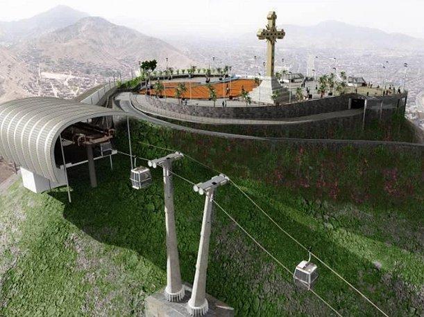 Este era el proyecto del Teleférico que iba a subir hasta el Cerro San Cristóbal