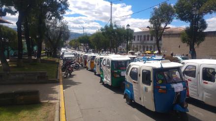 Mototaxistas se movilizan exigiendo nulidad de ordenanzas ediles 518 y 613
