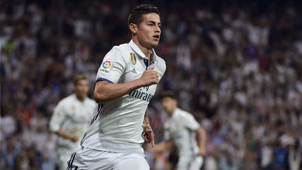 Los números que dejó James Rodríguez en el Real Madrid