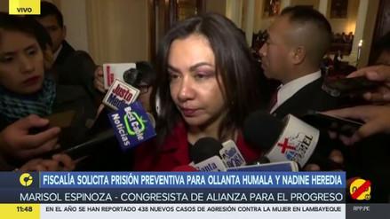 """Marisol Espinoza: """"Es muy serio el pedido de prisión contra Ollanta y Nadine"""""""
