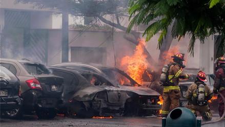 Así quedó el lugar de las explosiones en San Isidro