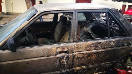 Así quedaron por dentro los carros calcinados por la explosión en San Isidro