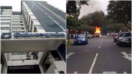 Osinergmin investiga explosión de vehículo que transportaba GLP