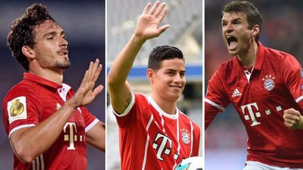 Con James Rodríguez, el poderoso once que tiene el Bayern Munich