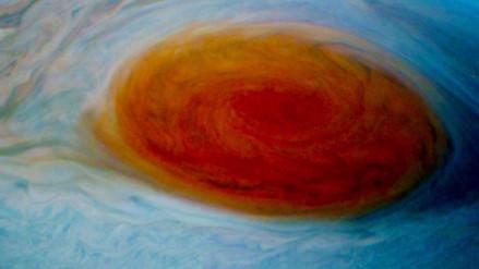 La NASA difunde nuevas imágenes de la Gran Mancha Roja de Júpiter