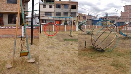 Parques infantiles de Cajamarca en estado de abandono