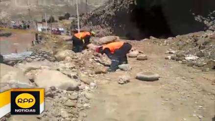 Viviendas de La Oroya en peligro ante deslizamiento de rocas