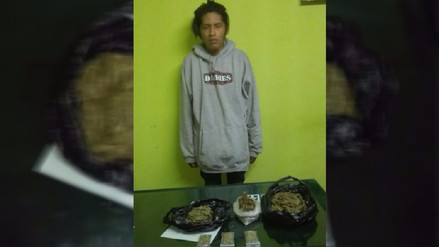 Cayma: capturan a sujeto que vendía marihuana a adolescentes
