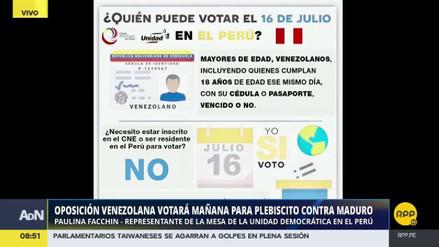 Estos son los puntos de votación en Perú del plebiscito venezolano