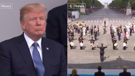 Banda del Ejército francés tocó Daft Punk delante de Trump por el Día de la Bastilla
