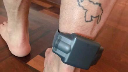 Lilian Tintori publicó una foto de Leopoldo López con su grillete electrónico