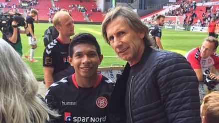 Ricardo Gareca se reunió con Edison Flores en Dinamarca