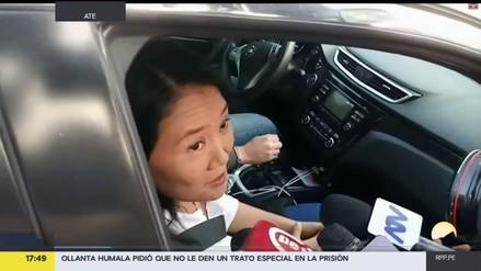 Keiko Fujimori visitó a su padre y lamentó la situación de Humala y Heredia