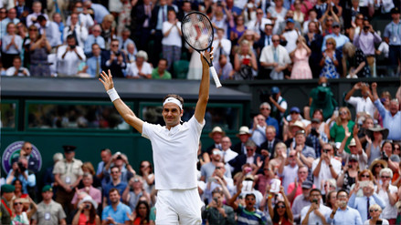 Roger Federer venció a Marin Cilic e hizo historia en Wimbledon