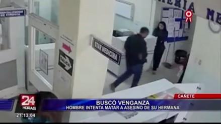 Cañete: hombre intentó matar al asesino de su hermana