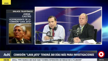 """Jorge Castro sobre Lava Jato: """"Recabaremos declaraciones de Favre, Humala y Heredia"""""""