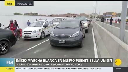 Se reabrió el puente Bella Unión que une el Cercado de Lima con el Cono Norte