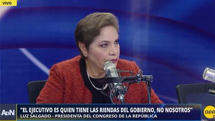 """Luz Salgado a Vargas Llosa: """"Como político, sigue desubicado"""""""