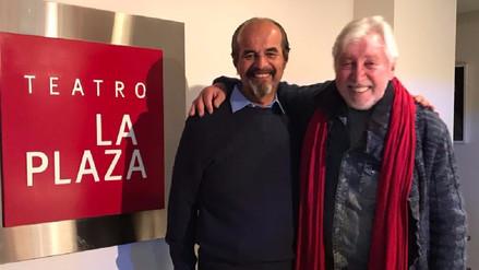Osvaldo Cattone y Mauricio Mulder se encuentran en el teatro