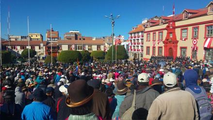 Marchan en respaldo al exdirigente Walter Aduviri por caso 'Aymarazo'