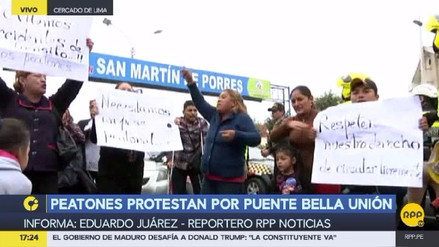 Vecinos protestan y denuncian irregularidades en puente Bella Unión