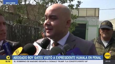 Eduardo Roy Gates visitó a Ollanta Humala en el penal de Barbadillo