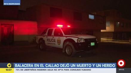Una balacera en el Callao dejó un muerto y un herido