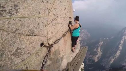 Video   Así es el monte Hua Shan, el sendero turístico más peligroso del mundo
