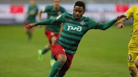 Jefferson Farfán jugó otra vez de titular en el Lokomotiv de Rusia