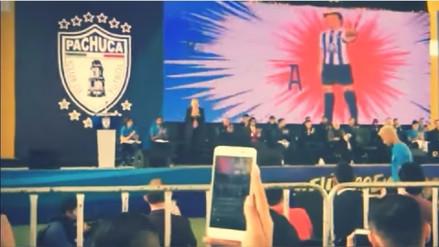 Keisuke Honda fue presentado en Pachuca con gráficas de los Supercampeones