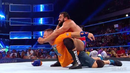 John Cena fue atacado por Rusev en la previa a WWE Battleground